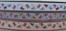 10mm RIBBONS (Pink, Red, Yellow, Turquoise) GROSGRAIN RIBBONS